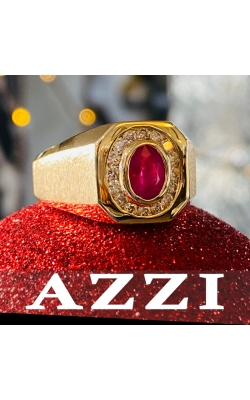 14k Yellow Gold Ruby and Diamond Ring product image