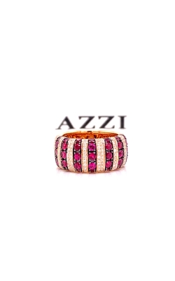 18k Rose Gold Diamond and Ruby Ring product image