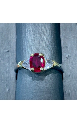 18 Two Tone Ruby and Diamond Ring product image