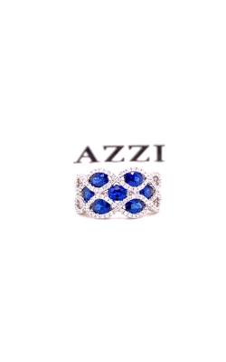 18k White Gold Diamond and Sapphire Ring product image