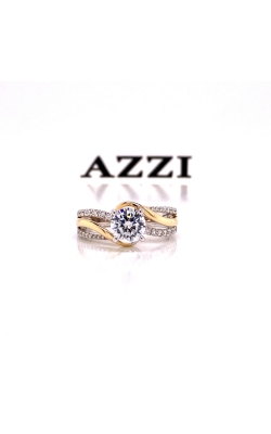 14k Yellow and White Gold Engagement Ring product image