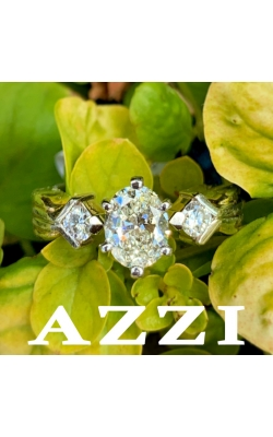 Two Toned Oval Diamond Ring product image