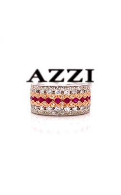 14k White Gold Diamond and Ruby Ring product image