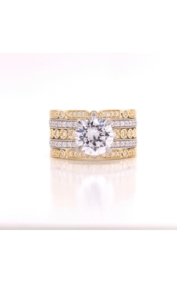 14k White and Yellow Gold Diamond Engagement Ring product image