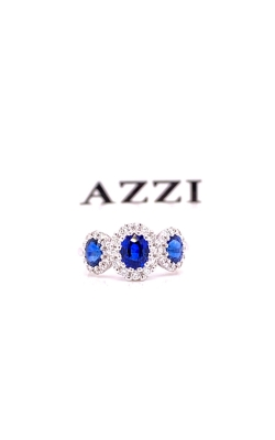 18k White Gold Sapphire and Diamond Ring product image