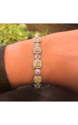 Cushion Cut 6.85 Carat Natural Fancy Yellow Bracelet product image