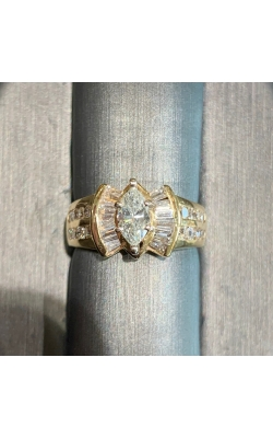 14k Yellow Gold Marquise Diamond Ring product image