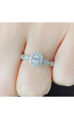 Oval Halo Diamond Engagement RIng product image