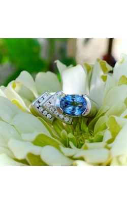 Oval Tanzanite and Diamond Ring product image