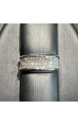 18k White Gold Invisible set Princes Ring product image