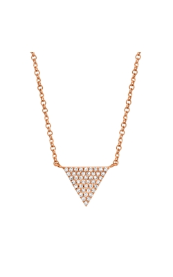 14k Diamond Pave Triangle Necklace product image
