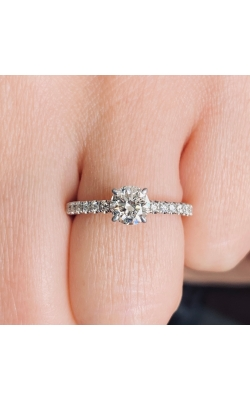 14k White Gold Diamond Engagement Ring product image