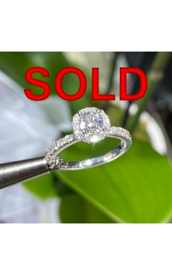 White Gold Diamond Engagement Ring product image