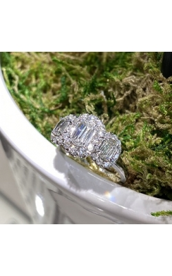 18k White Gold L'amour Diamond Engagement Ring product image