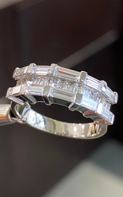 14k White Gold Baguette Anniversary Band product image