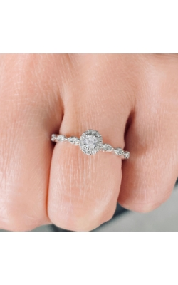 Round Halo Engagement Ring product image