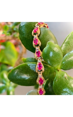 Oval Syn Ruby and Diamond Bracelet product image